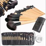 24 Pcs Professional Make Up Brush Set - Bamboo And Black Colour | Makeup for sale in Lagos State, Ikeja
