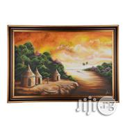 A Big Artwork Frame of Village Scene in West Africa - Handmade (40x25) | Arts & Crafts for sale in Lagos State