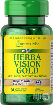 Puritans Pride Herba Vision Gold With Lutein And Bilberry For Eyesight | Vitamins & Supplements for sale in Lagos State, Lekki Phase 2