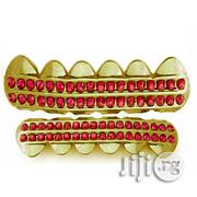 Hip-Hop Teeth Grillz Color-Iced-Out-Red Rhinestone | Jewelry for sale in Lagos State, Ikeja