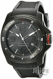 Tommy Hilfiger Men's Analog Display Rubber Strap Watch - Black | Watches for sale in Lagos State