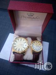 Promado Leather Couples Wristwatch - Brown | Watches for sale in Lagos State, Lagos Island
