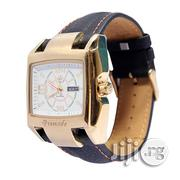 Promado Royal Gold Rim White Face Black Leather | Watches for sale in Lagos State, Surulere