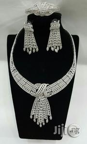 Angelic Silver Zircons Set   Jewelry for sale in Lagos State, Surulere