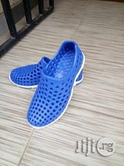 Croslite Unisex Rubber Sneakers Blue and White | Shoes for sale in Lagos State