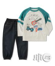 Kids Headquarters 'Rockstar' Tee Denim Joggers | Children's Clothing for sale in Lagos State, Surulere