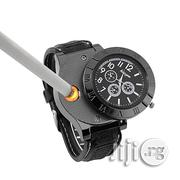 Military Men's Wrist Watch USB Lighter Flameless Light Fire Lighter | Watches for sale in Lagos State, Ikeja