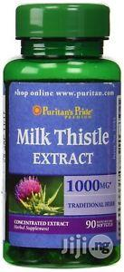 Puritans Pride Milk Thistle Extract 1000mg-90caplets | Vitamins & Supplements for sale in Lagos State, Surulere