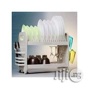 Qasa Rustless 2 Tier Plastic Dish Drainer And Plate Rack | Kitchen & Dining for sale in Lagos State, Ikeja