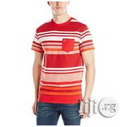 Southpole Men's Striped Crew Neck Pocket T-Shirt- Red/Multi   Clothing for sale in Lagos State