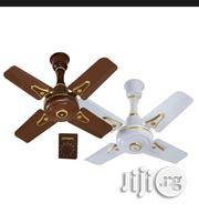 Qasa 4blade Ceiling Fan Brown And White 24"