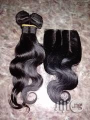 16 Inches Body Wavy With Closure | Hair Beauty for sale in Lagos State, Ojodu