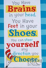 "Dr. Seuss "" You Can Steer Yourself Any Direction You Choose!"" Poster. 