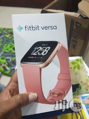 Fitbit Versa Smart Watch - Pink Black Strap | Smart Watches & Trackers for sale in Lagos State, Ikeja