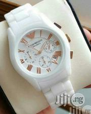 Emporior Armani Unisex White Wristwatch | Watches for sale in Lagos State, Surulere