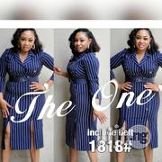 V Neck Gown With Belt | Clothing for sale in Lagos State, Ikoyi