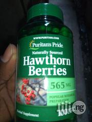 Puritans Pride Hawthorn Berries 565mg - 100capsules | Vitamins & Supplements for sale in Lagos State, Surulere