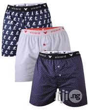 100% Breathable Cotton VICORD 3-in-1 Boxers | Clothing for sale in Lagos State