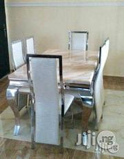 Quality Marble Dining Table With Six Chairs | Furniture for sale in Lagos State, Apapa