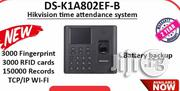 Hikvision Time Attendance DS-K1A802EF-B, Clockin/Out Machin   Safety Equipment for sale in Lagos State, Ikeja