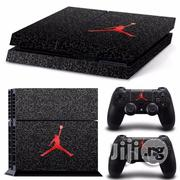 Michael Jordan Red Air Logo Decal Skin Sticker For PS4 Console | Accessories & Supplies for Electronics for sale in Lagos State, Ikeja