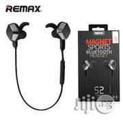 Remax Sports Bluetooth Headset Magnet Rb-s2 -black | Headphones for sale in Lagos State, Ilupeju