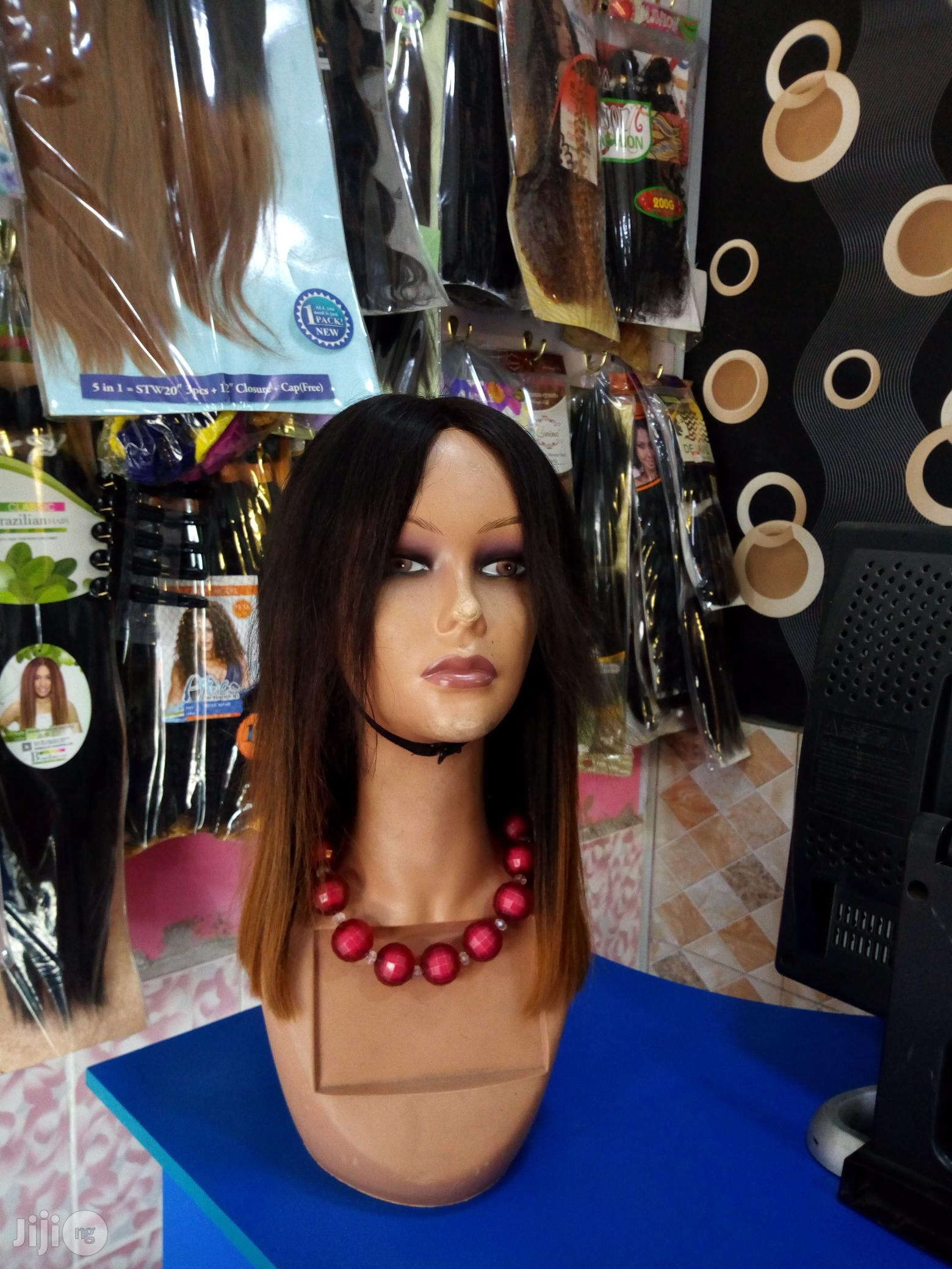 Blunt Cut Wig With Closure | Hair Beauty for sale in Surulere, Lagos State, Nigeria
