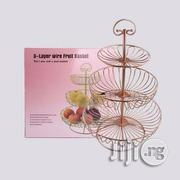 Vegetable Fruit Basket Cake Stand 3 Tier Metal Food Storage Holder Party Decor | Kitchen & Dining for sale in Lagos State, Victoria Island