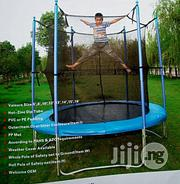 Intex Bouncing Trampoline Set With Round Net Covered   Sports Equipment for sale in Lagos State, Lagos Island