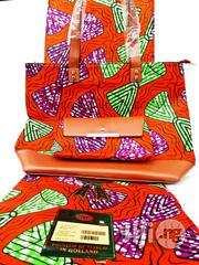 Quality Ankara Bag With 6yrds Wax And Purse   Bags for sale in Imo State, Owerri