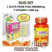 Glutathione Gluta Prime Plus 2,000,000mg + Vitamin C 1000mg | Vitamins & Supplements for sale in Lagos State, Ojo