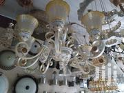 Big Chandelier Light Combination With White And Gold   Home Accessories for sale in Lagos State, Ojo