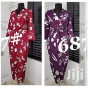 Flower Design v Neck Gown | Clothing for sale in Lagos State, Ikoyi