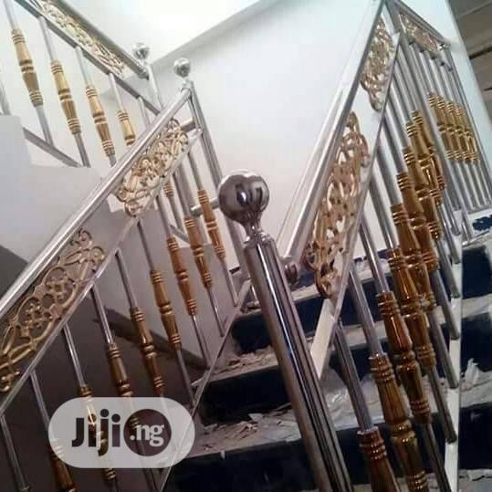 Stainless Handrails Gold & Silver
