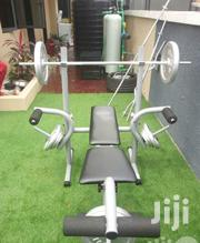 Commercial Weight Lifting Bench With 50kg Plate   Sports Equipment for sale in Imo State, Owerri