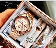Rosegold Chronograph Ladies Watch With 2 Bangles by Michael Kors   Watches for sale in Lagos State, Lagos Island