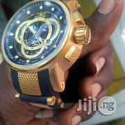Invicta S1 Rally Chronograph Blue Dial Blue Silicone Gold Watch   Watches for sale in Lagos State, Oshodi-Isolo