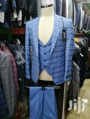 Skyblue Check Ado De Rossi 3piece Turkish Brands Men's Suits | Clothing for sale in Lagos State, Lagos Island