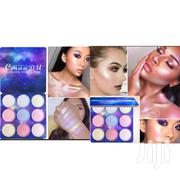 9 Color Shimmer Eye Shadow/Highlight Long Lasting Palette | Makeup for sale in Lagos State, Ikeja
