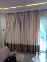 Cream And Brown Curtains | Home Accessories for sale in Lagos State, Yaba