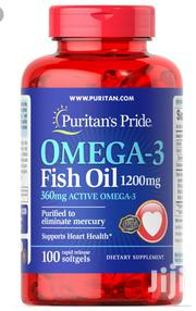 Puritan's Pride Omega-3 Fish Oil 1200mg ( 360mg Active Omega-3) | Vitamins & Supplements for sale in Lagos State, Gbagada
