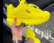 Yellow Fila Sneakers Unisex | Shoes for sale in Lagos State, Surulere