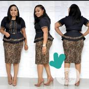 Women Designers Turkey Dresses in Black and Leopard Skin Print | Clothing for sale in Lagos State, Amuwo-Odofin