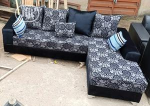 L Shaped Sofa Chair With Pillows