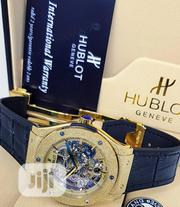 Hublot Geneve Black Leather Wristwatch   Watches for sale in Lagos State, Surulere