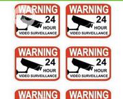 Set Of 6 Professional Popular Video Surveillance Stickers Sign By Hssl   Photo & Video Cameras for sale in Anambra State, Awka