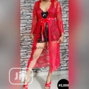 Red Lace Long Sleeve Robe | Clothing for sale in Lagos State, Yaba