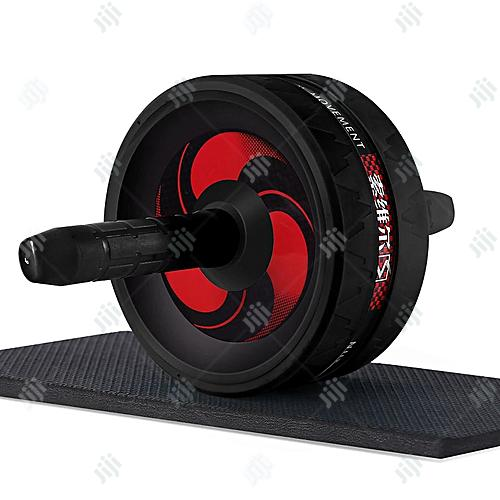 No Noise Abdominal Wheel Ab Roller With Mat For Exercise