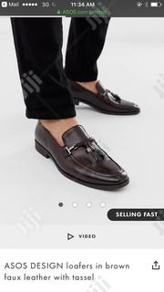 ASOS DESIGN Loafers in Brown Faux Leather With Tassel | Shoes for sale in Lagos State, Victoria Island