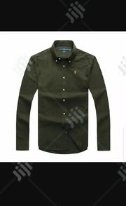 Ralph Lauren Plain Long Sleeve Shirt Army Green | Clothing for sale in Lagos State, Surulere